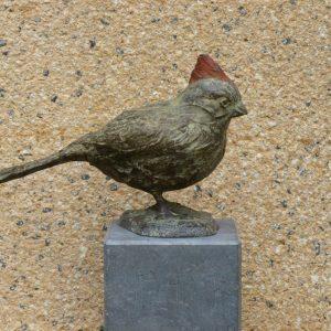 Kardinaalsvogel brons hoogte 15 cm