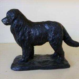 New foundlander, brons Yvonne Piller, ca 15 cm hoog