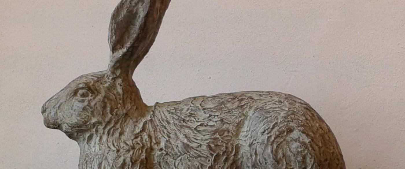 Haasje, ca 35 cm breed